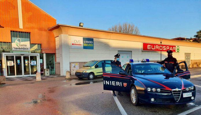 carabinieri san bonifacio furto eurospar