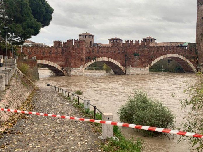 maltempo adige Verona - Foto dalla pagina Facebook Sboarina Sindaco