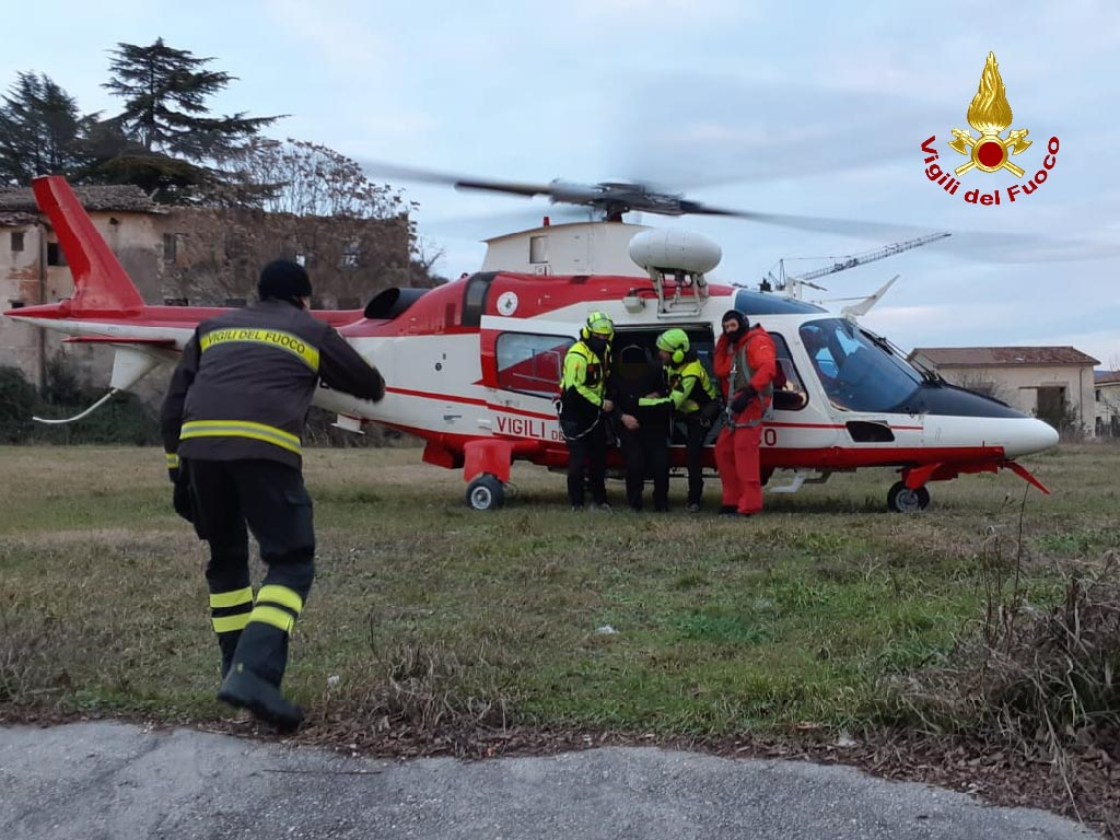 Intervento Vigili del Fuoco - elicottero - Fumane