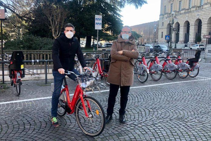 Presentazione nuove bici elettriche del bike sharing di Verona