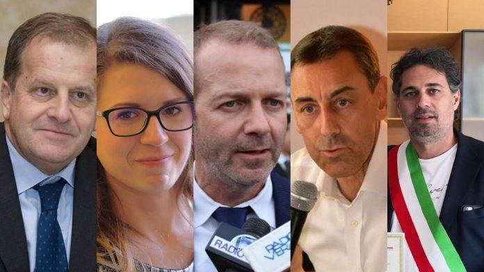 I parlamentari veronesi Massimo Ferro, Francesca Businarolo, Paolo Paternoster, Vincenzo D'Arienzo, Davide Bendinelli discutono sul governo