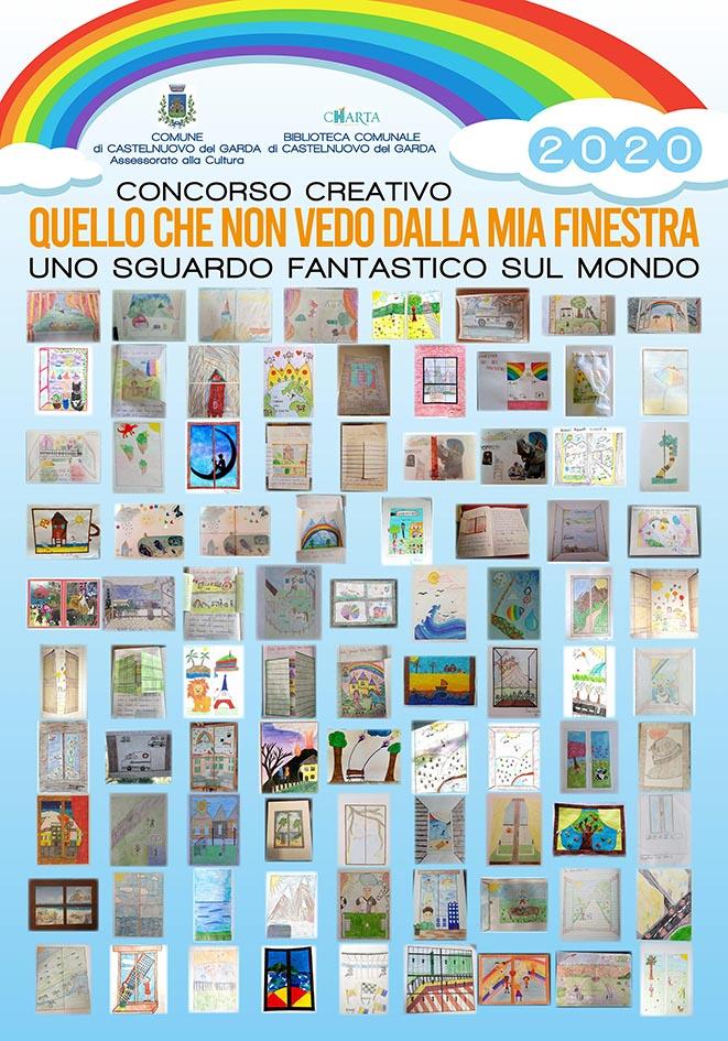 Castelnuovo del Garda - manifesti disegni bambini durante il lockdown