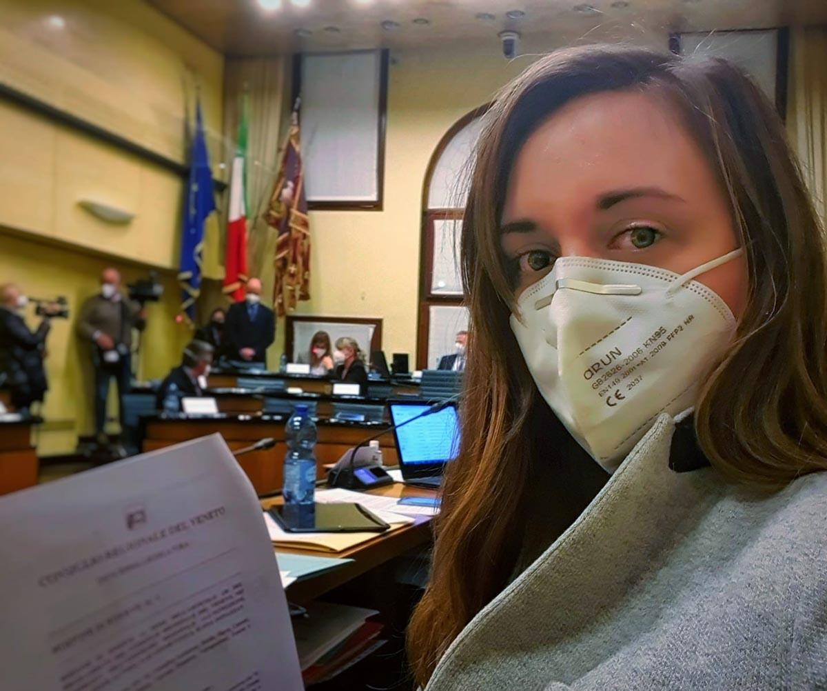 Cristina Guarda, consigliera regionale Europa Verde Car fluff Sorgà