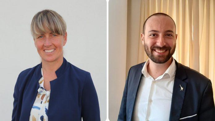 La vicepresidente della Regione Veneto Elisa De Berti e il commissario della Lega Verona Nicolò Zavarise.
