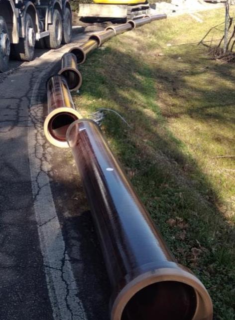 Lavori acquedotto AGS