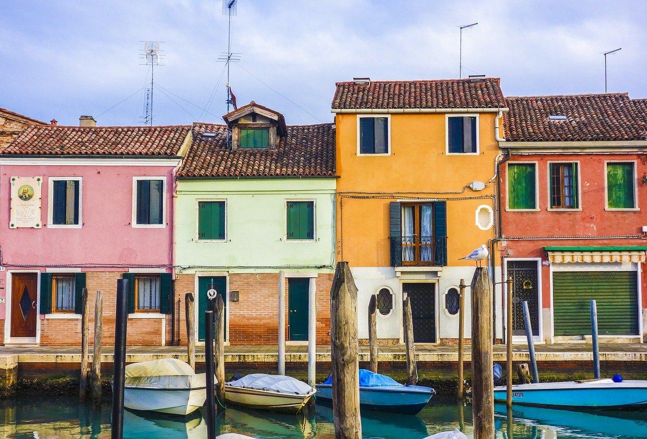 pixabay venezia case canal grande canale turismo