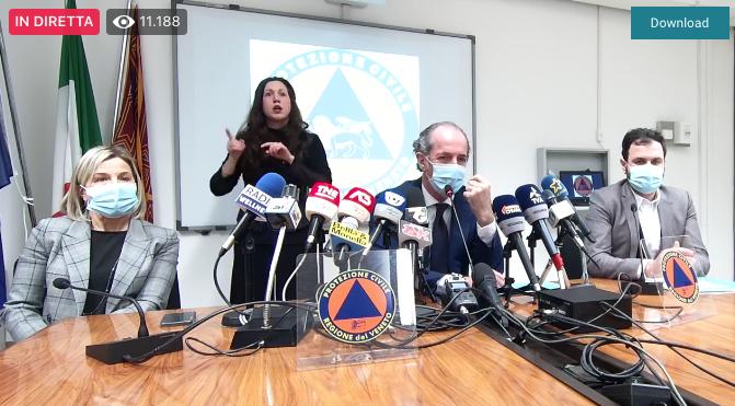 luca zaia conferenza stampa
