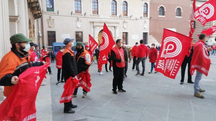 Protesta sindacati trasporti merci e logistica Verona