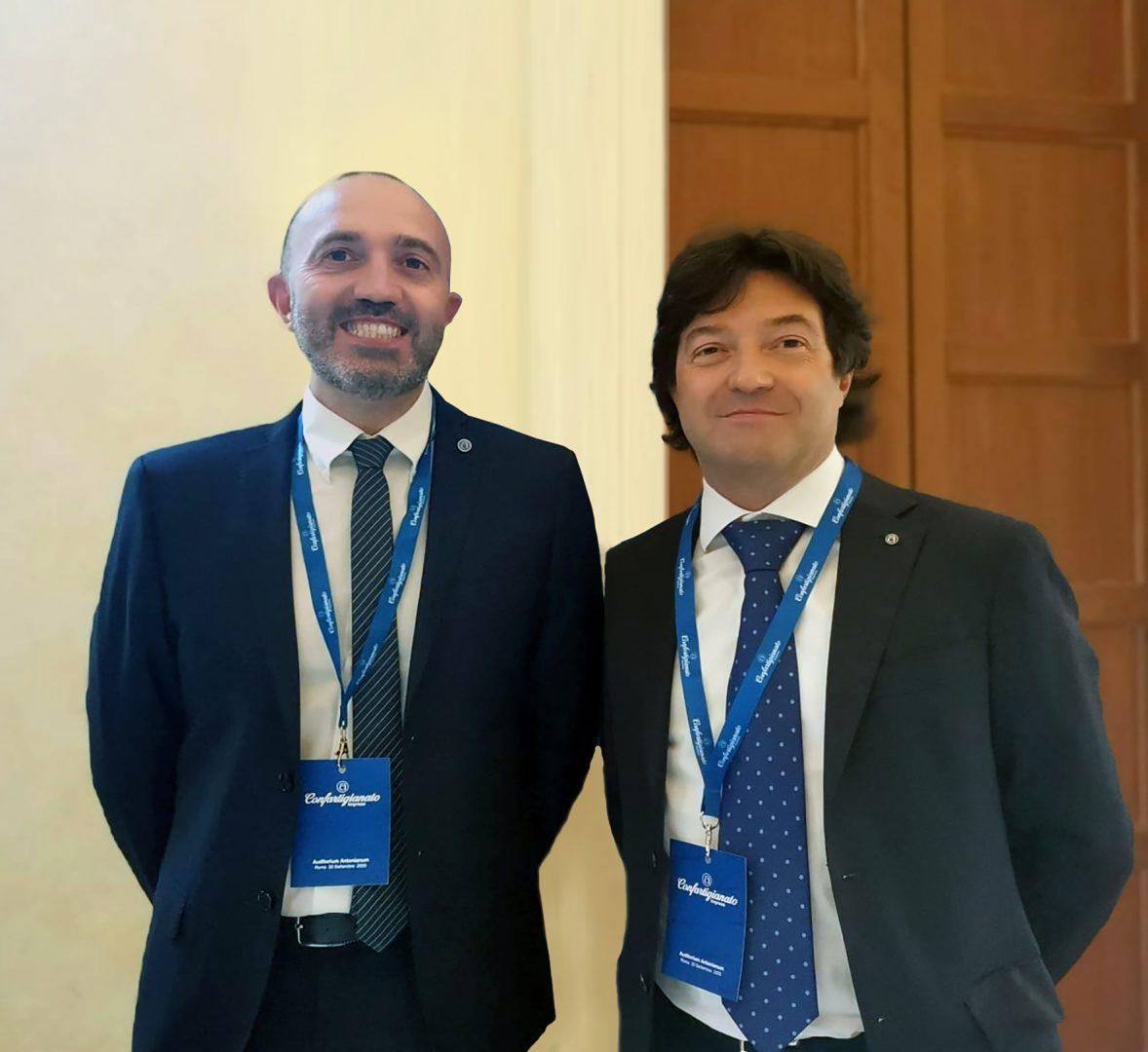 Roberto Iraci Sareri e Roberto Boschetto confartigianato
