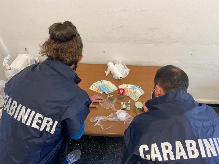 Carabinieri via Unità d'Italia San Michele Extra droga