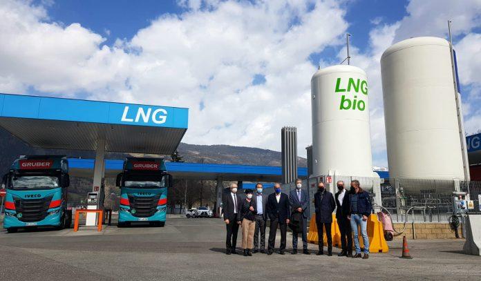 Il nuovo distributore di biometano sulla A22.