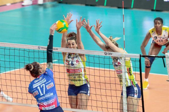 Imoco Volley Conegliano, una delle finaliste alla Cev Champions League a Verona, dove sono attese sabato 1 maggio