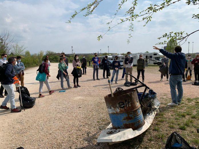 La pulizia alla Spianà organizzata domenica 18 aprile 2021 da Traguardi