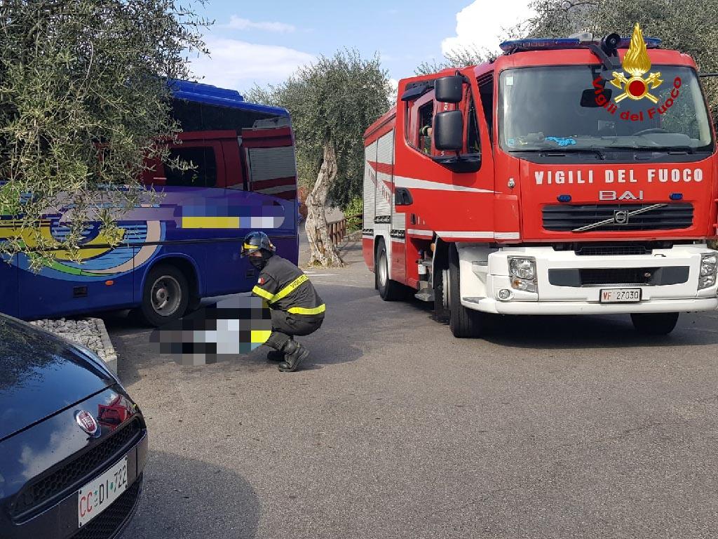 incidente malcesine - autista schiacciato dal proprio autobus