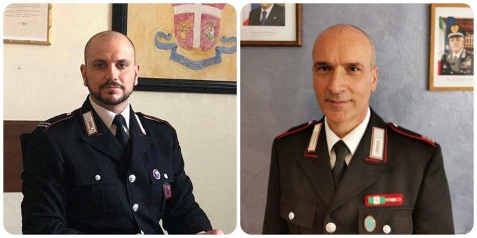 Da sinistra: il Maresciallo Ordinario Andrea Di Censi e il Maresciallo Maggiore Rosario Ramingo