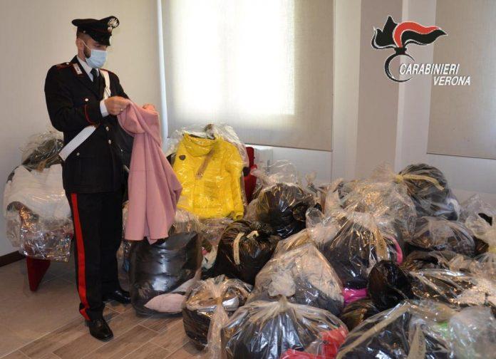 Carabinieri - Furto vestiario Nogarole Rocca