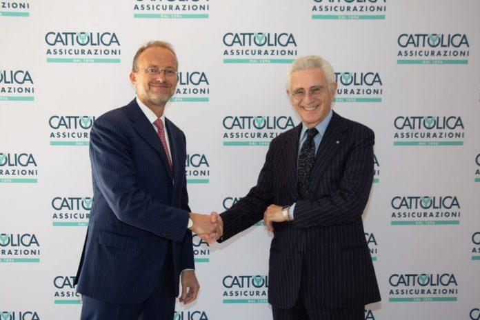 Carlo Ferraresi con il neo presidente Davide Croff