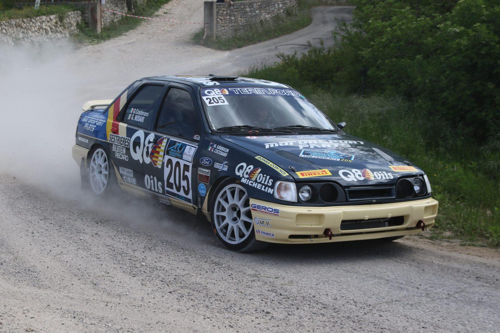 Costenaro-Nodari Ford Sierra 4x4 Vincitori del Rally storico della Valpolicella