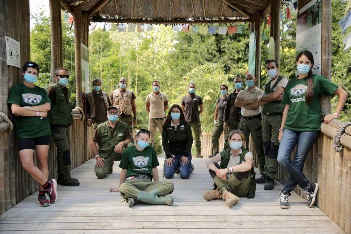 Lo staff del Parco natura Viva di Bussolengo