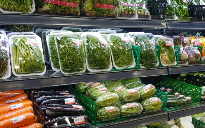 Supermercato plastica imballaggi