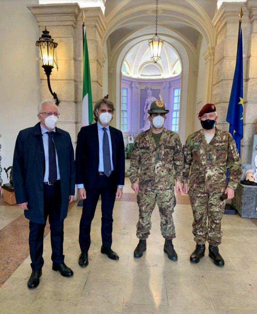 Il generale Figliuolo a Verona al Comfoter di supporto