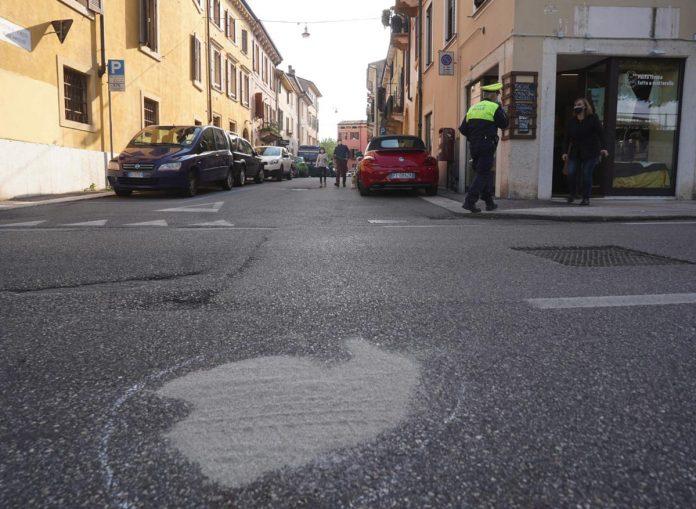 Il luogo dell'incidente in Regaste San Zeno a Verona