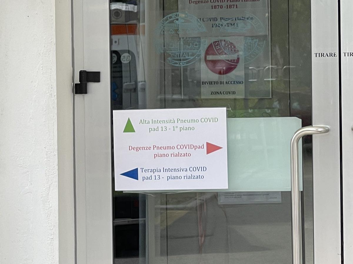 Chiuso il reparto Covid dell'ospedale di Borgo Trento