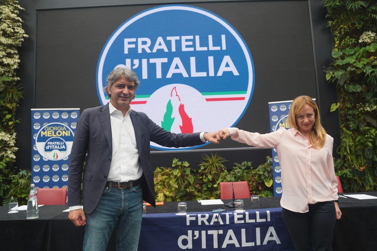 Federico Sboarina e Giorgia Meloni