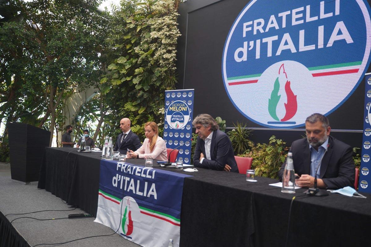 Federico Sboarina annuncio Fratelli d'Italia con Giorgia Meloni
