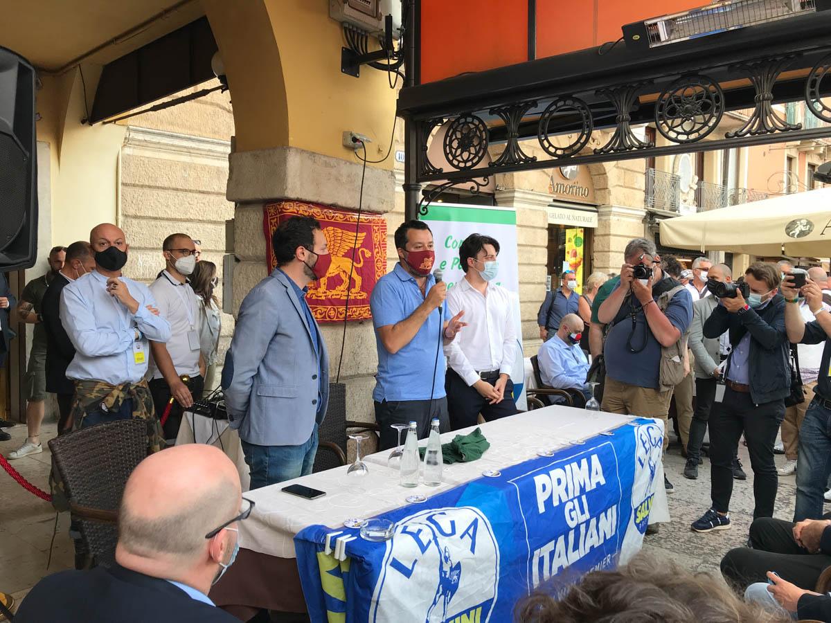 Matteo Salvini a Verona incontra la Lega