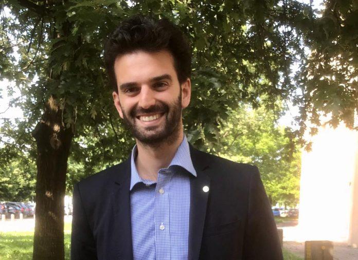 Piergiovanni Ferrarese, presidente dei Giovani di Confagricoltura Verona car fluff a sorgà