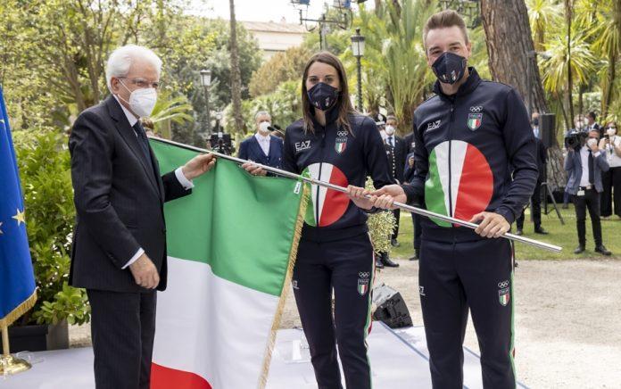 Elia Viviani e Jessica Rossi con il Presidente Mattarella