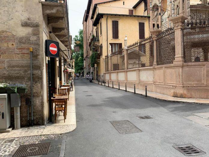 esercenti centro storico di Verona giornata deludente