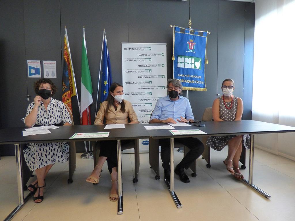 La conferenza stampa di presentazione della campagna vaccinale in farmacia.
