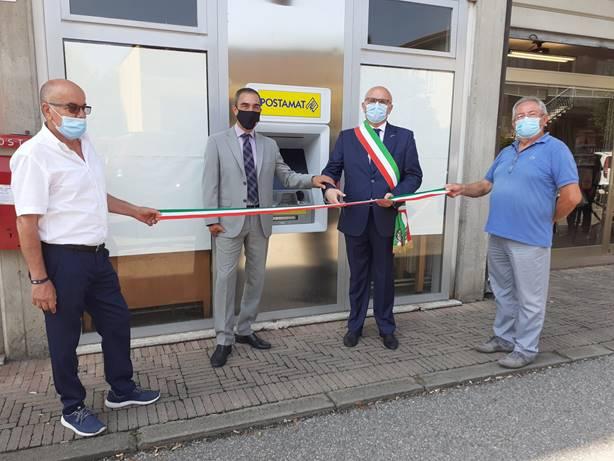 L'inaugurazione dell'ATM a San Pietro di Morubio