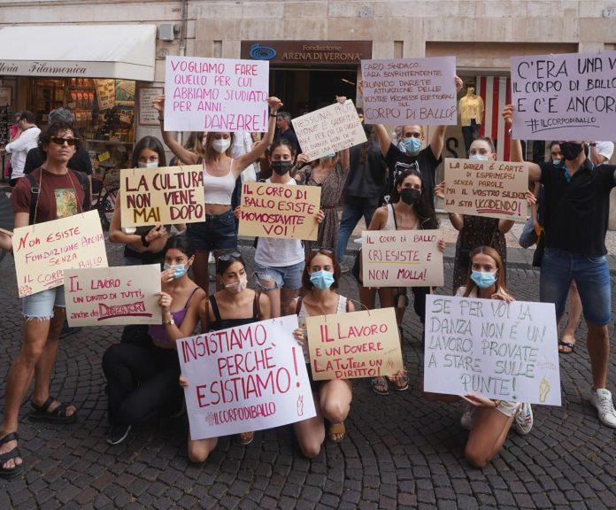 protesta lavoratori fondazione arena