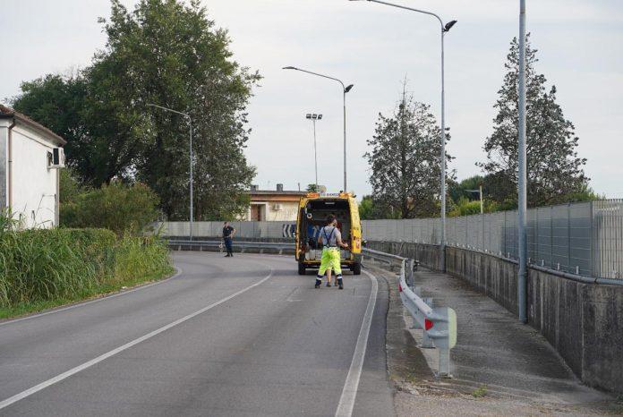 Castagnaro, il luogo dell'incidente dove ha perso la vita un motociclista