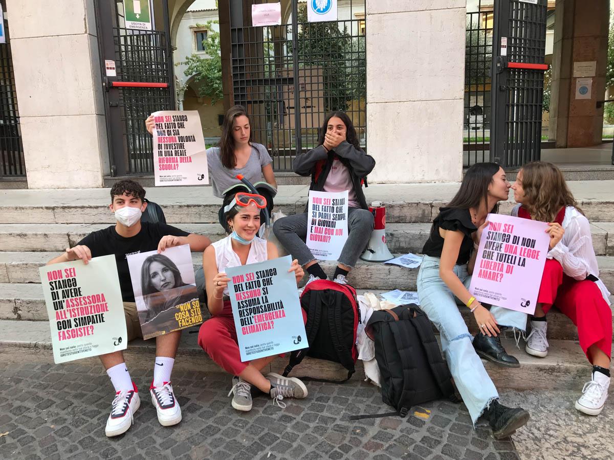 La protesta della Rete degli studenti medi di Verona