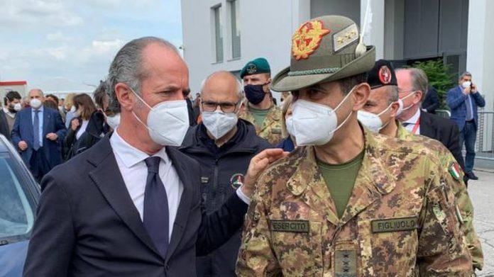 Luca Zaia e il generale Figliuolo