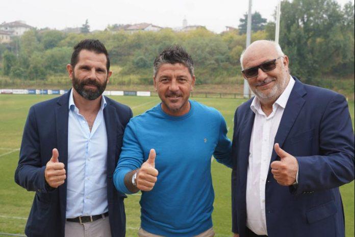 Presentazione FC Clivense. Sergio Pellissier, mister Riccardo Allegretti ed Enzo Zanin