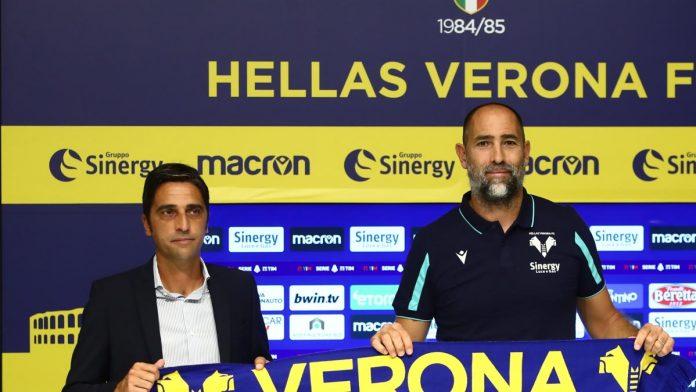 Il direttore sportivo dell'Hellas Verona Tony D'Amico e l'allenatore Igor Tudor