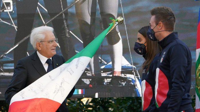 Sergio Mattarella Elia Viviani olimpiadi paralimpiadi