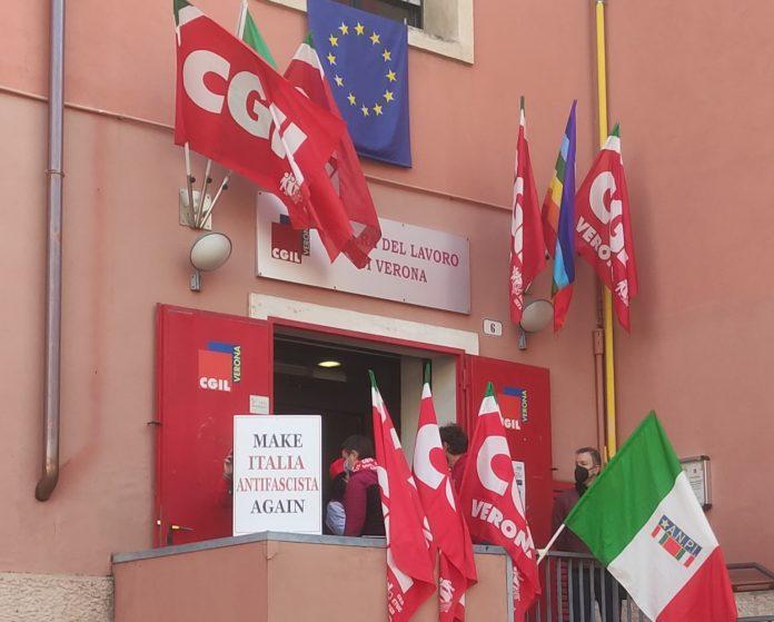Camera del lavoro di Verona - Manifestazione domenica 10 ottobre 2021