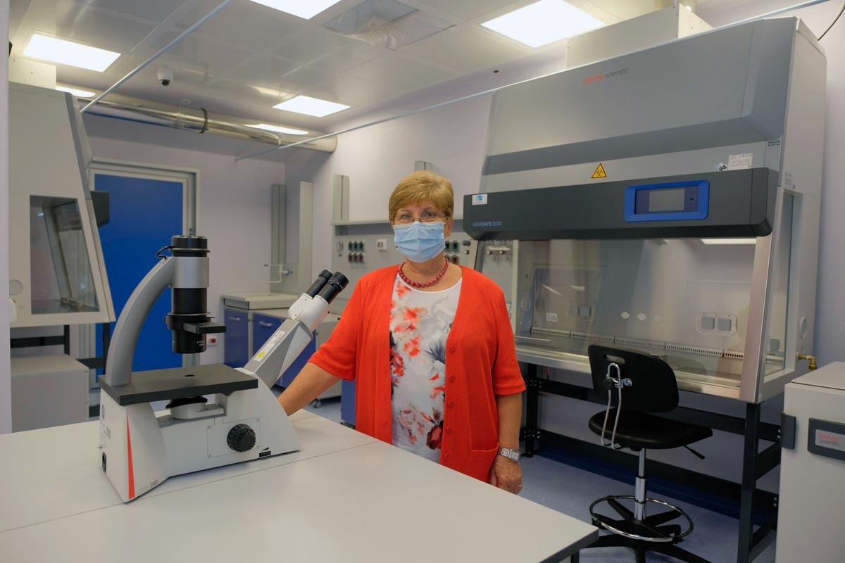Laboratori biocontenimento Irccs Sacro Cuore Don Calabria di Negrar. Foto Ennevi