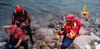 Vigili del Fuoco - pescatore in Adige - Rivoli Veronese