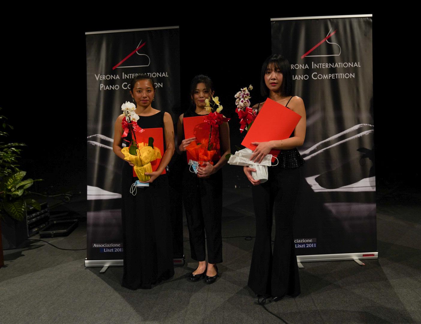 Le tre finaliste del Premio Città di Verona