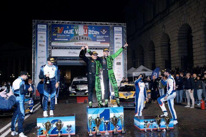 Il podio assoluto del 39° Rally Due Valli
